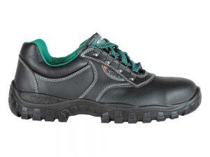 Zaštitne Cipele S3 Cofra Antares SRC niske crne sa zelenim detaljima