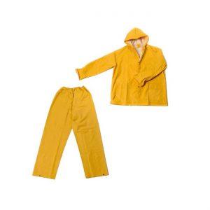 Kišno odijelo žuto od PVC-a u dva dijela, hlače i kaput s kapuljačom