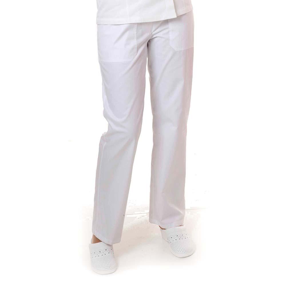 hlače ženske kuharske bijele1