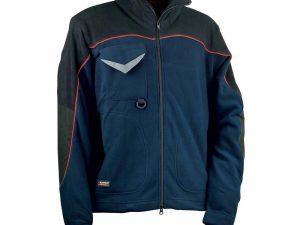 muška jakna od flisa plave boje sa crnim elementima