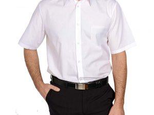 Bijele konobarske košulje s kratkim rukavima