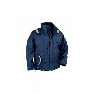 Zimska radna jakna tamno plave boje s reflektirajućim trakama