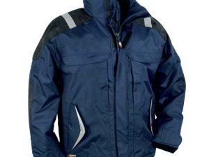 Radna jakna tamnop plave boje sa sivim reflektirajućim elementima