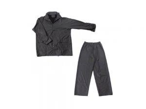 Kišna jakna i hlače od poliuretana tamno plave boje